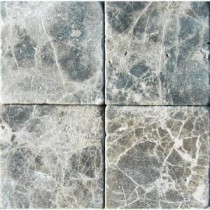 MS International Emperador Dark 4 in. x 4 in. Tumbled Marble Floor & Wall Tile