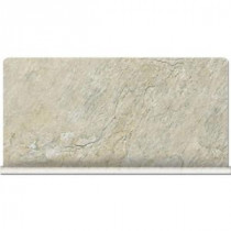 Daltile Franciscan Slate Desert Crema 12 in. x 6 in. Glazed Porcelain Cove Base Floor and Wall Tile