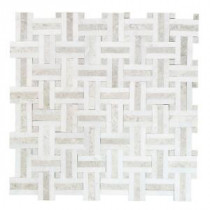Jeffrey Court Windswept 13 in. x 13 in. Marble Mosaic Wall Tile