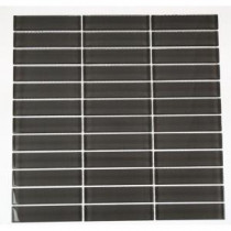 Splashback Tile Contempo Smoke Gray Polished 12 in. x 12 in. Glass Mosaic Floor and Wall Tile