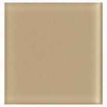 U.S. Ceramic Tile 2 in. x 2 in. Beige Glass Insert Wall Tile