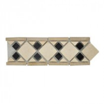 Jeffrey Court Bellagio Stone Strip 4 in. x 12 in. Marble Floor and Wall Tile