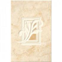 ELIANE Illusione 8 in. x 12 in. Beige Ceramic Wall Insert Tile