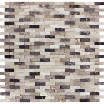 MS International Emperador Blend Splitface 12 in. x 12 in. Marble Mesh-Mounted Wall Tile