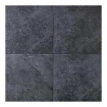 Daltile Continental Slate Asian Black 18 in. x 18 in. Porcelain Floor and Wall Tile (18 sq. ft. / case)