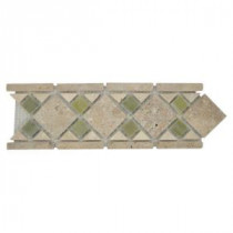 Jeffrey Court Tuscano 12 in. x 4 in. Beige Marble Mosaic Tile