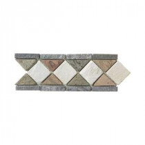 Jeffrey Court Aspen Slate Listello 4 in. x 12 in. Floor & Wall Tile