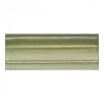 Daltile Cristallo Glass Peridot 3 in. x 8 in. Chari Rail Glass Accent Wall Tile
