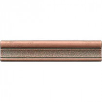 Daltile Castle Metals 2-1/2 in. x 12 in. Aged Copper Metal Hammered Ogee Liner Trim Wall Tile