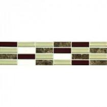 Daltile Stone Decorative Accents Cohiba Illusion 3 in. x 12 in. Decorative Accent Wall Tile
