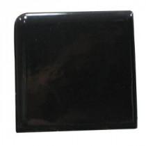 U.S. Ceramic Tile Bright Black 2 in. x 2 in. Ceramic Surface Bullnose Corner Wall Tile