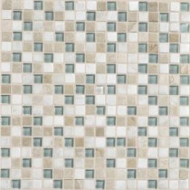 Daltile Stone Radiance Whisper Green 12 in. x 12 in. x 8mm Glass and Stone Mosaic Blend Wall Tile