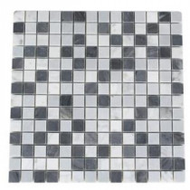 Splashback Tile Carrera and Bardiglio Blend 12 in. x 12 in. Marble Floor and Wall Tile