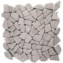 Solistone Haisa Marble 12 in. x 12 in. Dark Marble Mesh-Mounted Mosaic Tile