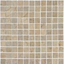 MS International Sahara Gold 1 in. x 1 in. Mosaic Polished Marble Floor & Wall Tile