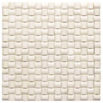 Jeffrey Court 10-1/4 in. x 10-1/4 in. Ivory Crossfields Marble Mosaic Wall Tile