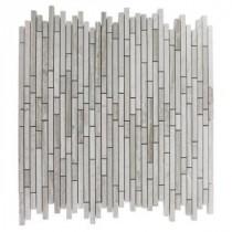 Splashback Tile Windsor Random Wooden Beige 12 in. x 12 in. Marble Floor and Wall Tile