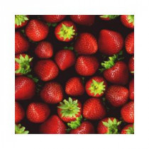 Art Glass Holographic Strawberries 12 in. x 12 in. Glass Floor Tile (10 sq. ft. / case)