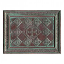 Daltile Castle Metals 12 in. x 16 in. Aged Copper Metal Clover Mural Wall Tile