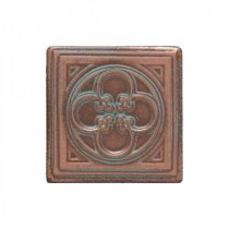 Daltile Castle Metals 2 in. x 2 in. Aged Copper Metal Insert A Accent Tile
