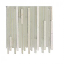 Splashback Tile Tetris Stylus Crema Marble Floor and Wall Tile - 6 in. x 6 in. Tile Sample