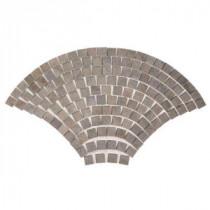 MARAZZI Porfido 30 in. x 52 in. Green Porcelain Fan Mosaic Tile