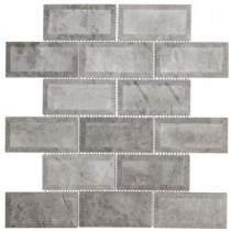 Jeffrey Court Tundra Grey Beveled 12 in. x 12 in. Marble Mosaic Wall Tile