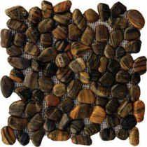 MS International Mixed Polished Pebbles 12 in. x 12 in. Marble Floor & Wall Tile