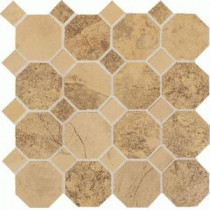 Daltile Aspen Lodge Golden Ridge 12 in. x 12 in. x 6mm Porcelain Octagon Mosaic Floor and Wall Tile (7.74 sq. ft. / case)