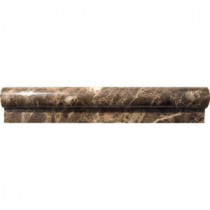 MS International Emperador 2 in. x 12 in. Marble Rail Molding Wall Tile (1 Ln. Ft. per piece)