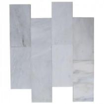 Splashback Tile Oriental 3 in. x 6 in. Marble Floor and Wall Tile