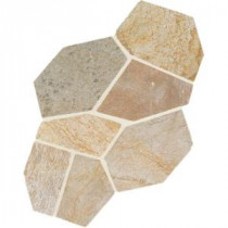 Daltile Natural Stone Collection Golden Sun 12 in. x 24 in. Slate Flagstone Floor and Wall Tile (13.5 sq. ft. / case)