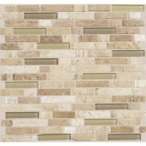 Daltile Stone Radiance Mushroom 11-3/4 in. x 12-1/2 in. x 8 mm Glass and Stone Mosaic Blend Wall Tile
