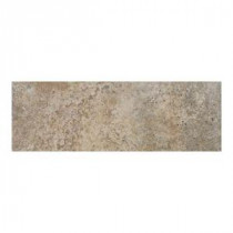 Daltile Alta Vista Drift Wood 3 in. x 12 in. Porcelain Surface Bullnose Trim Floor and Wall Tile