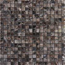 MS International Emperador Dark 5/8 in. x 5/8 in. Mosaic Polished Marble Floor & Wall Tile