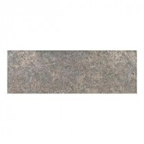 Daltile Alta Vista Misty Rain 3 in. x 12 in. Porcelain Bullnose Floor and Wall Tile