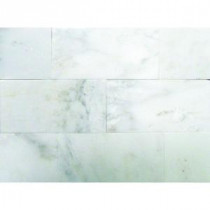 M. S. International Inc. Greecian White 3 in. x 6 in. Marble Floor and Wall Tile (1 sq. ft./case)