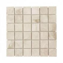 Jeffrey Court Cappucino Mosaic 12 in. x 12 in. Marble Wall & Floor Tile