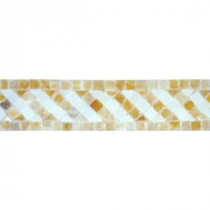 MS International Honey 2 in. x 8 in. Polished Onyx Listello Mosaic Tile