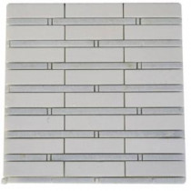 Splashback Tile Elder Thassos and Blue Celeste 12 in. x 12 in. Marble Floor and Wall Tile