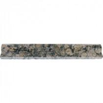 MS International Baltic Brown 2 in. x 12 in. Granite Rail-Moulding Wall Tile