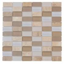 Jeffrey Court Cottage Ridge 12 in. x 12 in. Cream Mosaic Tile