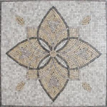 MS International Floral Blend Medallion 24 in. x 24 in. Tumbled Marble Floor & Wall Tile