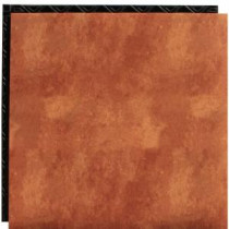 Place N' Go Terra Cotta 18.5 in. x 18.5 in. Interlocking Waterproof Vinyl Tile with Built-In Underlayment