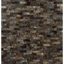 MS International Emperador Splitface 12 in. x 12 in. Brown Marble Mesh-Mounted Mosaic Tile