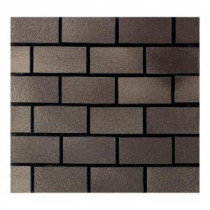 Daltile Urban Metals Bronze 12 in. x 12 in. x 8mm Metal Brick-Joint Mesh-Mounted Mosaic Wall Tile (10 sq. ft. / case)