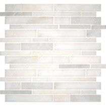 MS International Greecian White Interlocking 12 in. x 12 in. Natural Marble Mesh-Mounted Mosaic Floor and Wall Tile