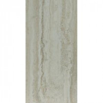 TrafficMASTER Allure 12 in. x 24 in. Grey Travertine Vinyl Tile (24 sq. ft. / case)