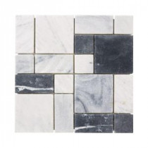 Jeffrey Court Carrara block Mosaics 12 in. x 12 in. Marble Kitchen Wall and Floor Tile
