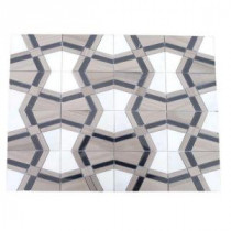 Splashback Tile Prism Sirocco 12 in. x 12 in. Marble Floor and Wall Tile